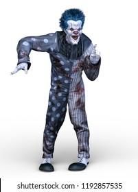 3D CG rendering of clown