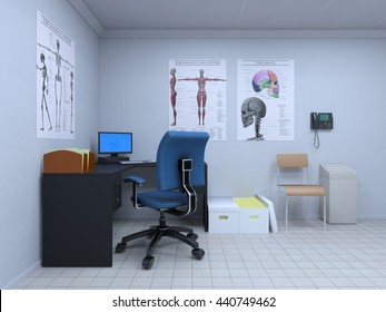 3D CG rendering of a consulting room