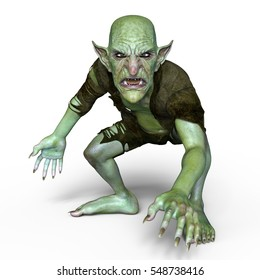 3D CG rendering of a goblin