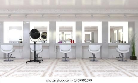 3D CG rendering of Hairdresser