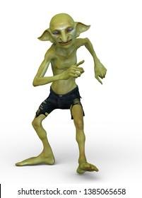 3D CG rendering of hobbit