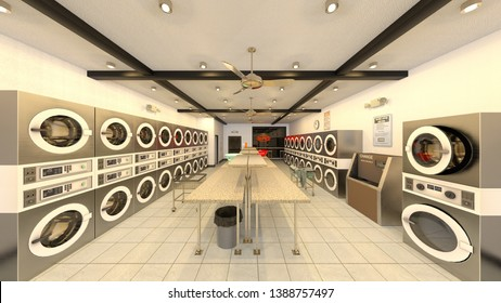 Royalty-Free Laundry Shop Design Stock Images, Photos ...