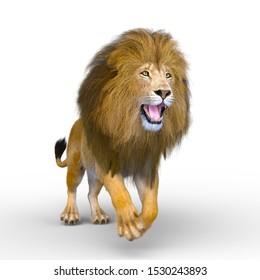 3D CG rendering of Lion