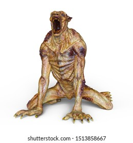 3D CG rendering of monster