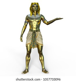 3D CG rendering of a pharaoh