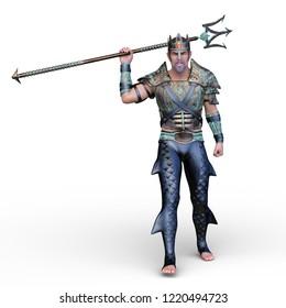 3D CG rendering of Poseidon