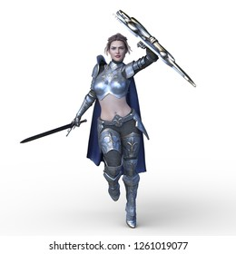 3D CG rendering of Sexy warrior