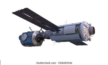 3D CG rendering of Space satellite