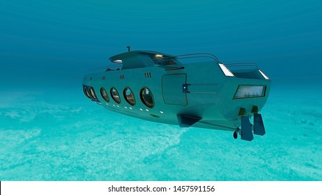 3D CG rendering of Submarine