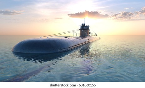 3D CG rendering of the submarine