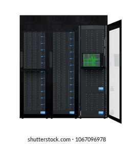 3D CG rendering of the supercomputer