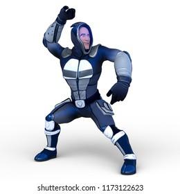 3D CG rendering of superman