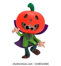 3d character pumpking halloween