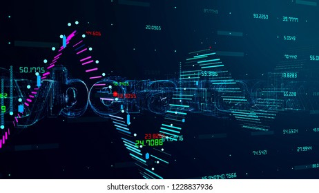 3D Chart Concept Background