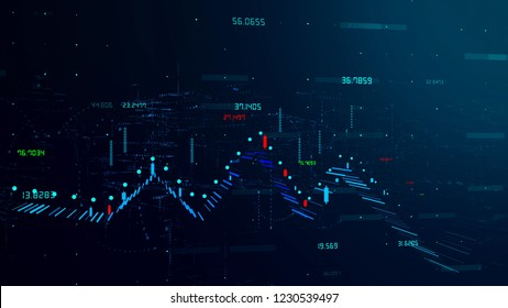 3D Chart Concept Background