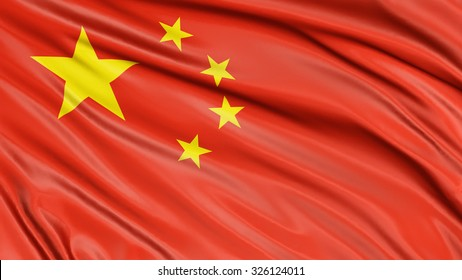 3D Chinese flag