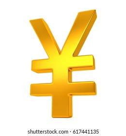3D Chinese Yuan Sign. 3D Illustration