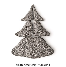 3d chrismas tree made of granite spa stones