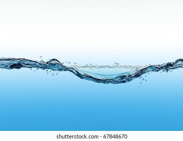 3d close up of the water surface move