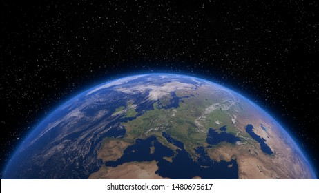 3d closeup render of planet earth from space. Elements of this image by NASA