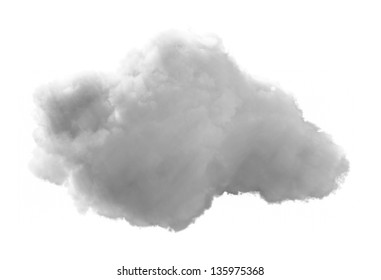 3D Cloud - isolated over a white background