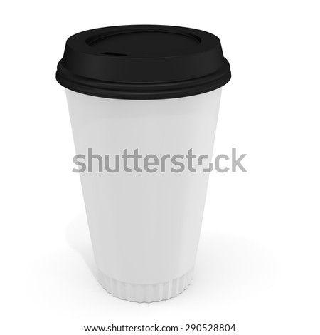 f56707db214 3 D Coffee Cup Blank Label On Stock Illustration 290528804 ...