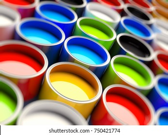 3D color buckets for offset printing