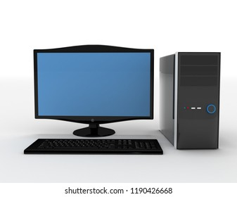 3D. Computer, Desktop PC, PC.3d illustration