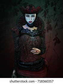 3d computer graphics of a lady in Gothic style clothing