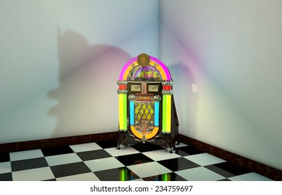 3D Computer rendered illustration of Jukebox