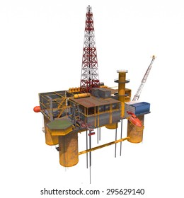 3d computer rendered the Oil Platorm isolated