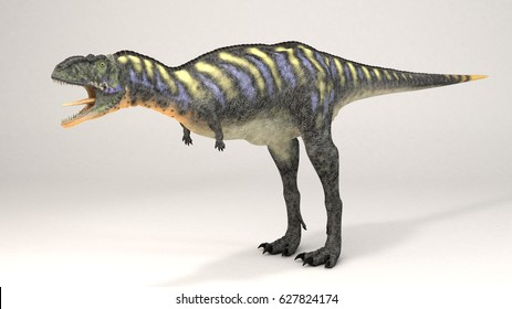 3D Computer rendering illustration of Aucasaurus green