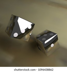3d computer rendering of a 3d illustration featuring dice