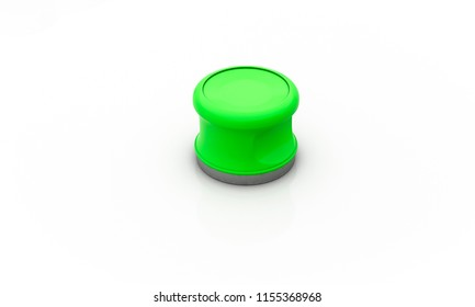 3D controller green on white background 3d illustration