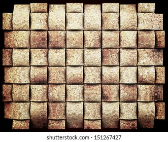 3-d cork design, abstract background natural, Concept back plate.