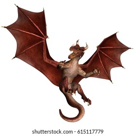 3D Created and Rendered Fantasy Dragon Illustration