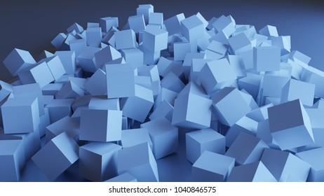 3d cubes. Chaos.