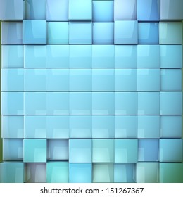 3d cubes design, abstract background in blue toned, Concept back plate.