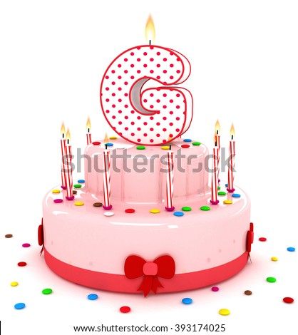 3d cute letter g rendering colorful birthday cake alphabet with sweet candle and decorate
