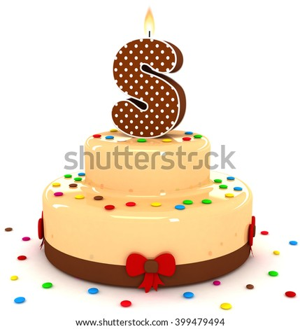 3d cute letter s rendering colorful with chocolate birthday cake alphabet with sweet polka