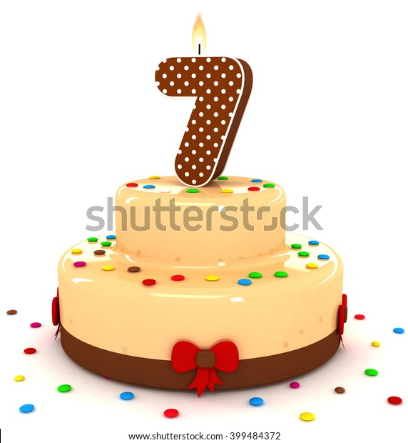 Magnificent 3D Cute Number 7 Seven Rendering Stock Illustration 399484372 Funny Birthday Cards Online Inifodamsfinfo
