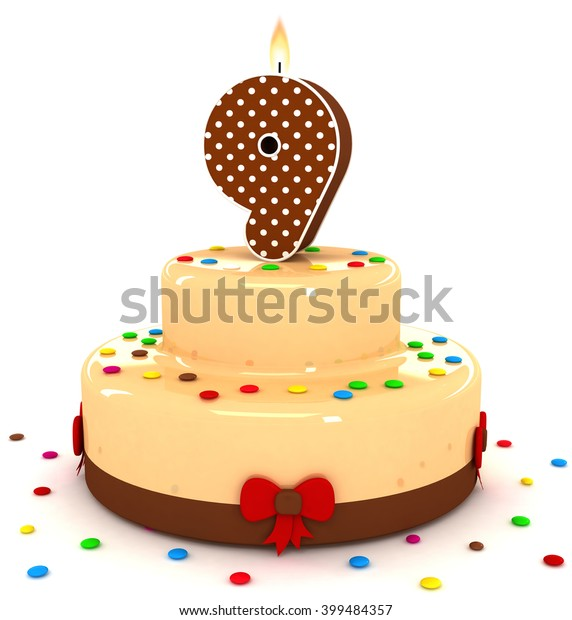 Decorative Polka Dot Number 1 Birthday Candle