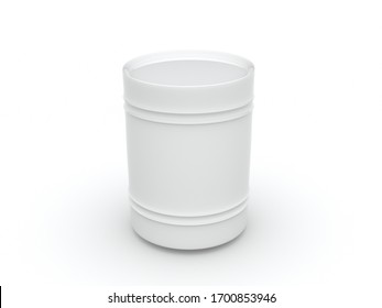 3d cylinder on white background