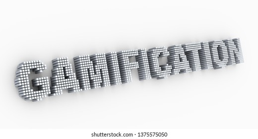 3d design of extracted matrix cubes text word gamification formation