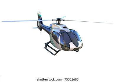 3d detailed helicopter isolated on white