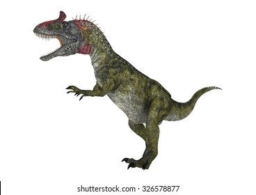 3D digital render of a dinosaur Cryolophosaurus isolated on white background