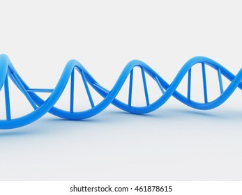3d Dna isolated on white background
