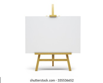 3d easel and canvas