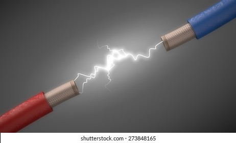 3D. Electricity, Energy, Sparks.