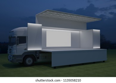 Mobile Stage Truck Images, Stock Photos & Vectors | Shutterstock